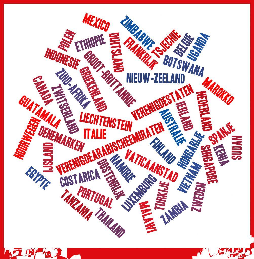 De 49 landen die Lianne heeft bezocht