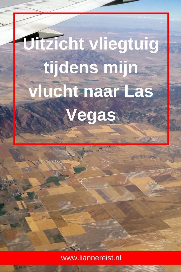 Fantastische uitzichten van het landschap vanuit het vliegtuig gedurende mijn vlucht van Amsterdam naar Las Vegas