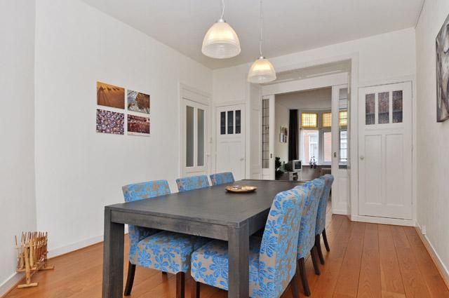 Mijn baan opgezegd om te reizen - de eetkamer in mijn huis in Den Haag