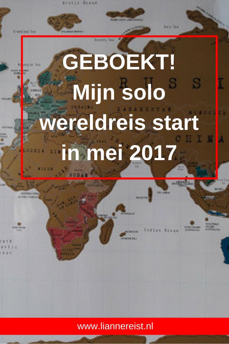 Start wereldreis: geboekt voor mei 2017