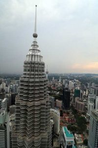 Petronas Twin Towers - top toren vanaf 86ste etage