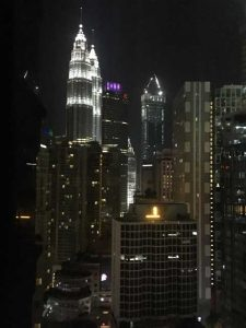 Petronas Twin Towers - vanaf hotelkamer nacht
