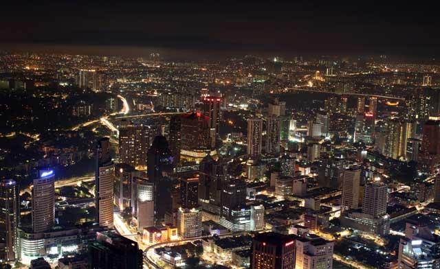Skyline van Kuala Lumpur - Nachtelijk Kuala Lumpur vanaf de Kuala Lumpur Toren