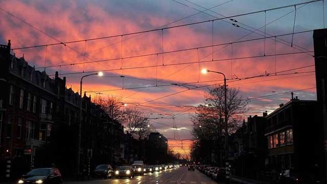 Mijn tien populairste Instagram foto's na een half jaar - nummer 2 zonsopkomst in Den Haag in Nederland