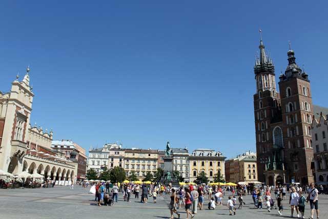 Weekend Krakau in Polen - Rynek Glówny, het centrale plein van Krakau