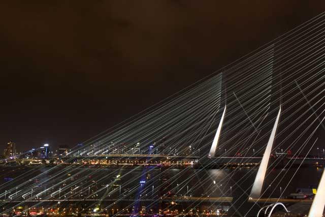 Workshop nachtfotografie - de Erasmusbrug drie keer in beeld