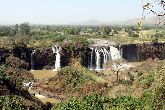 De Blauwe Nijl watervallen in de buurt van Bahir Dar in Ethiopie
