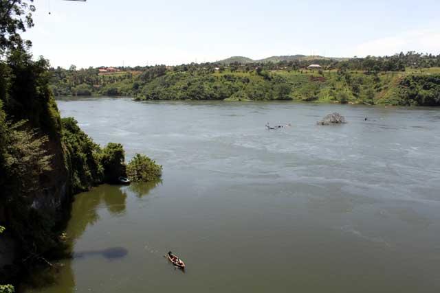 De Witte Nijl bij Jinja in Uganda