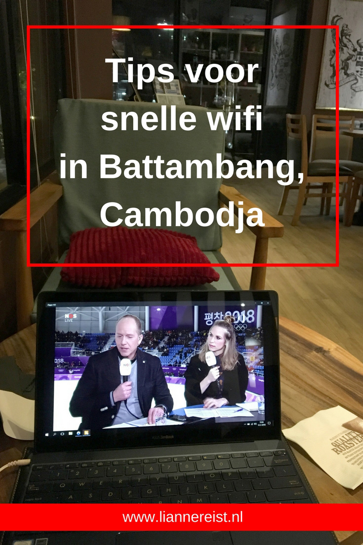 Snelle wifi in Battambang, Cambodja