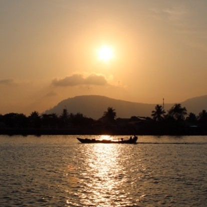 wereldreis: tien meest gelikete fotos instagram zonsondergang kampot cambodja