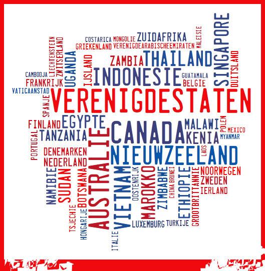 Landen die Lianne heeft bezocht (mei 2019)